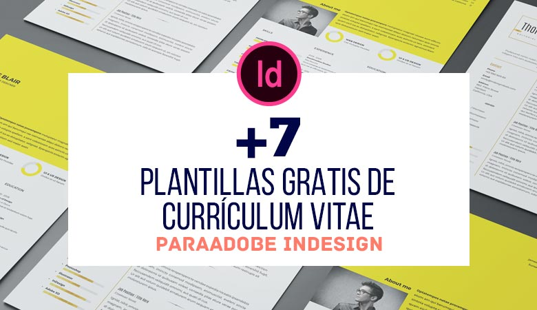+7 Plantillas Gratis de Currículum Vitae para InDesign