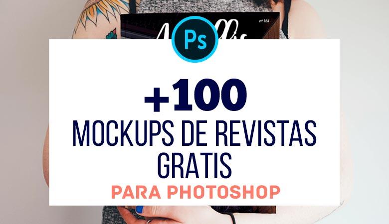 +100 Mockups de Revistas Gratis para Photoshop