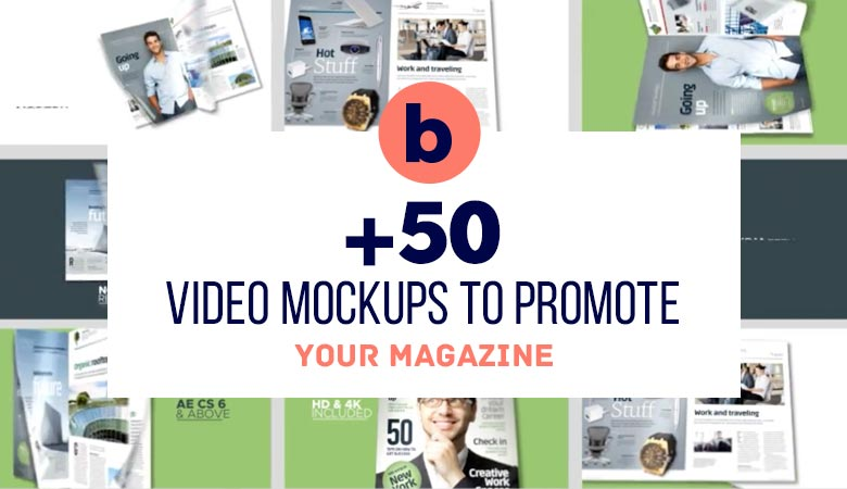 50+ Video Mockups to Promote your Magazine