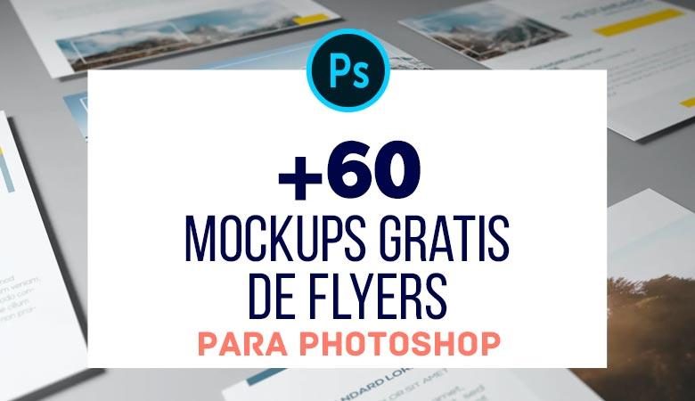 60 Mockups Gratis de Flyers para Photoshop