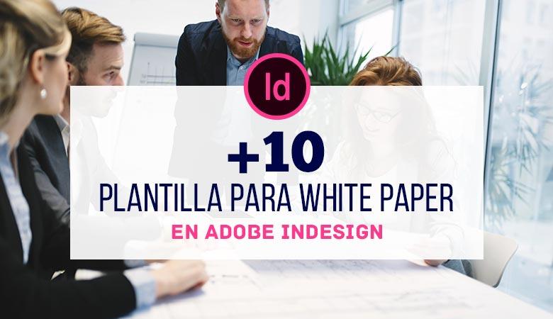10+ Plantillas para White Paper en InDesign