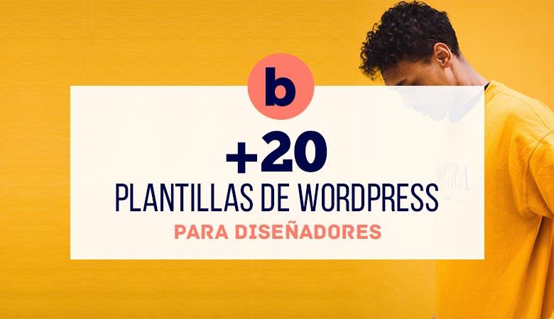 20+ Plantillas de WordPress para Diseñadores (2021)