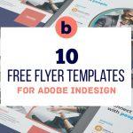 10 FREE InDesign Flyer Templates | Bundle Vol 1