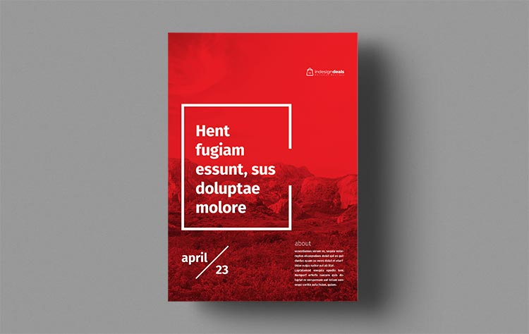 Flyer & Poster Templates for Adobe InDesign
