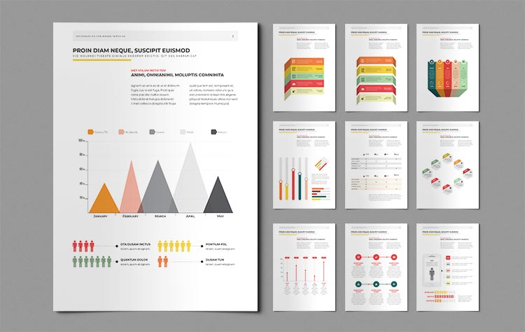 nfographic Elements for InDesign